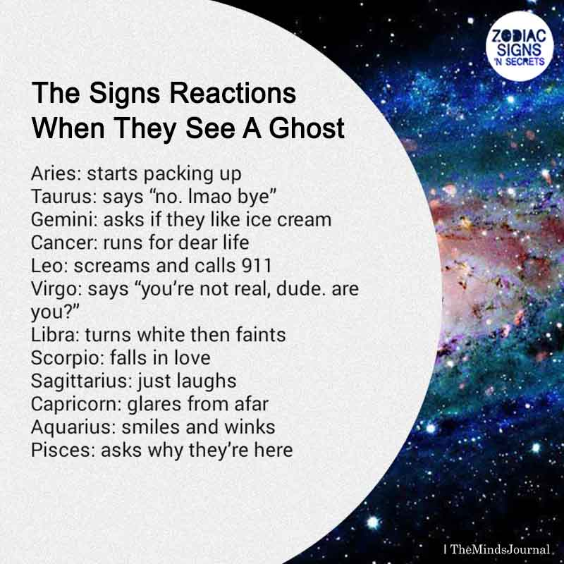 The Signs Reactions When They See A Ghost