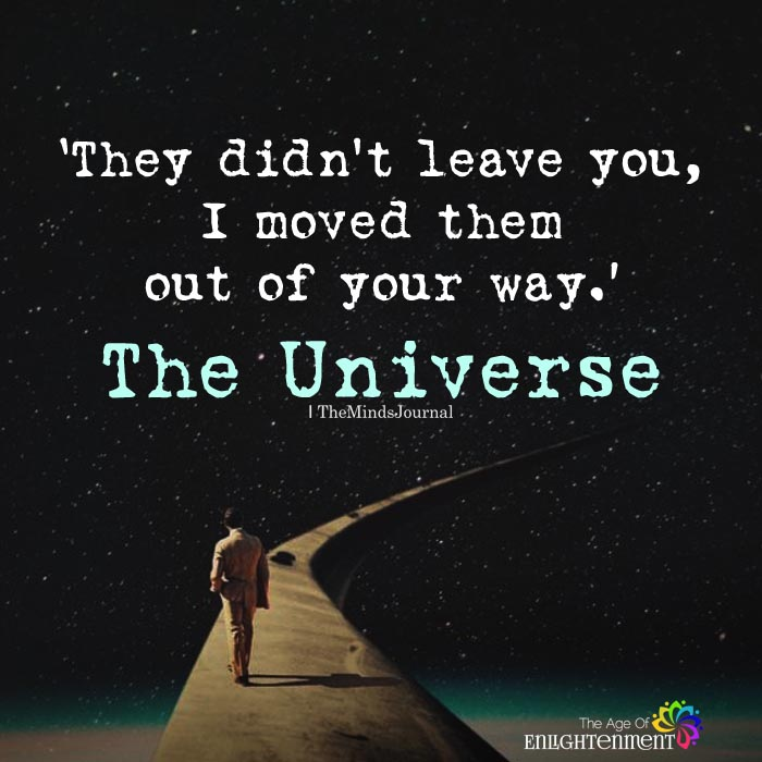 They Didn't Leave You
