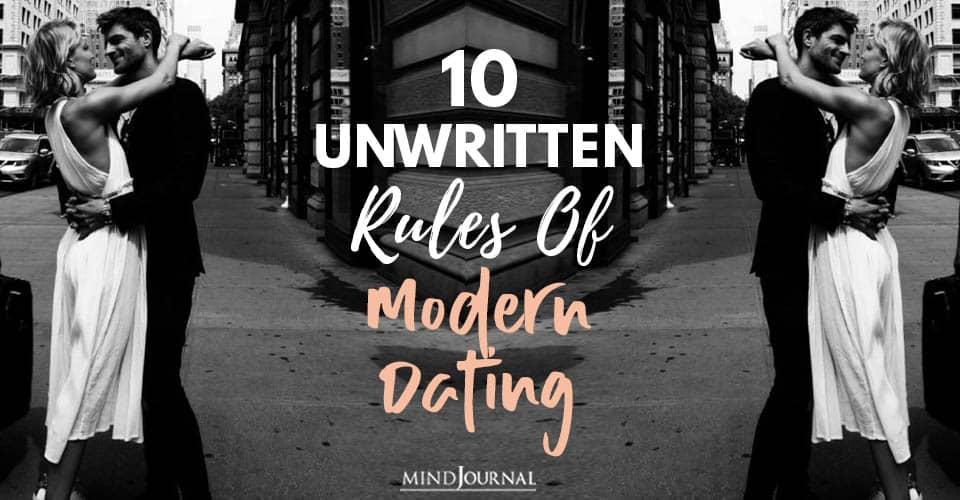 Unwritten Rules Modern Dating