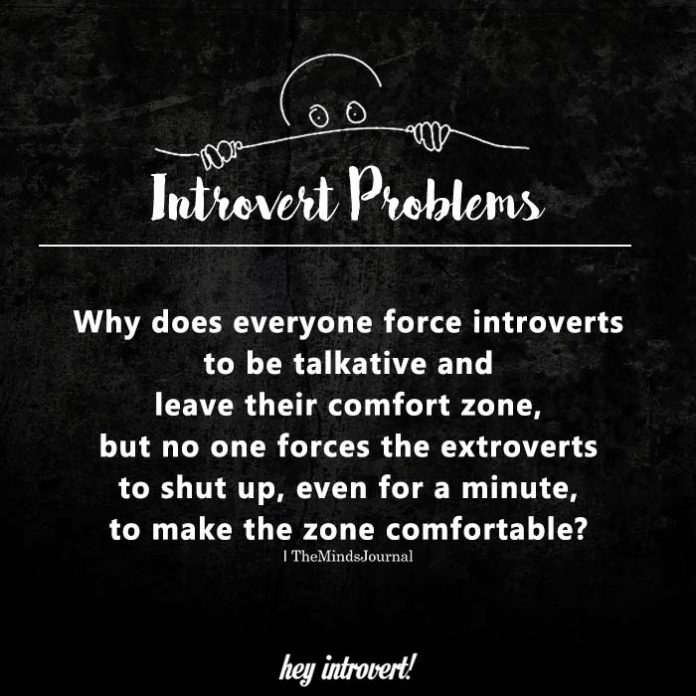 Why does everyone force introverts