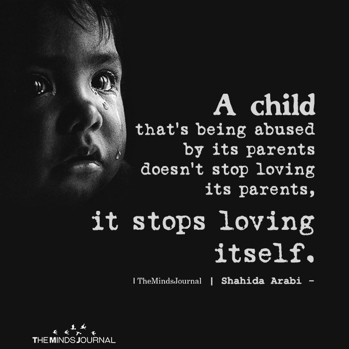 A Child That's Being Abused By Its Parents