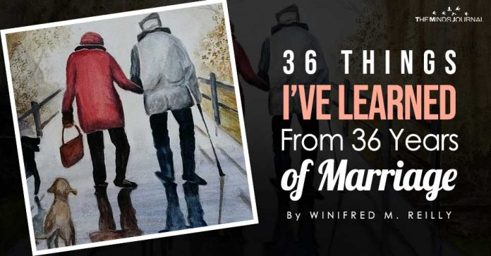 36 Things I've Learned From 36 Years of Marriage