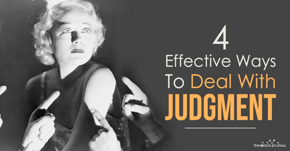 4 Effective Ways To Deal With Judgment