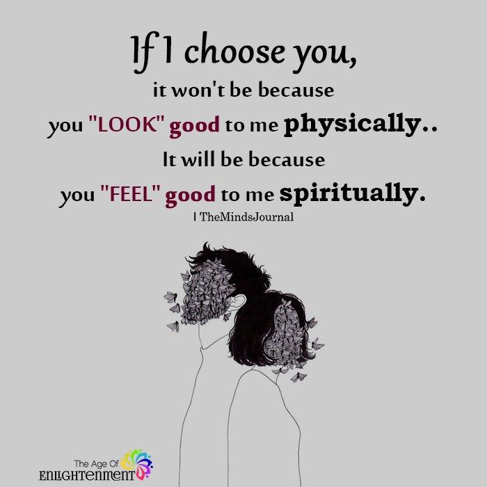 If I choose you