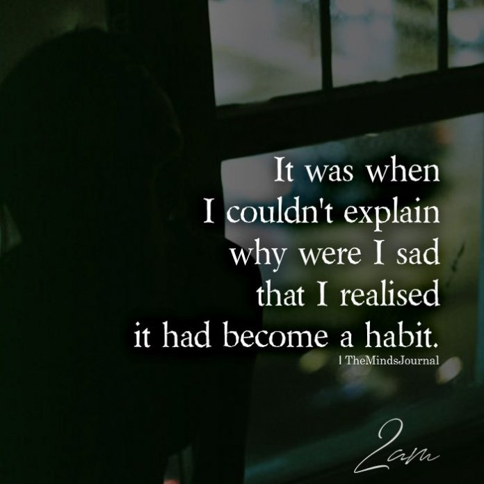 It was when I couldn't explain