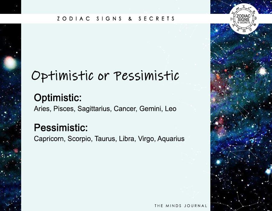 Signs As 'Optimistic or Pessimistic'