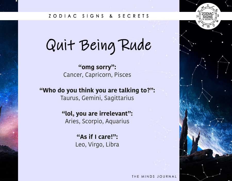Signs As 'Quit Being Rude'