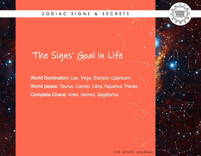 The Signs' Goal In Life