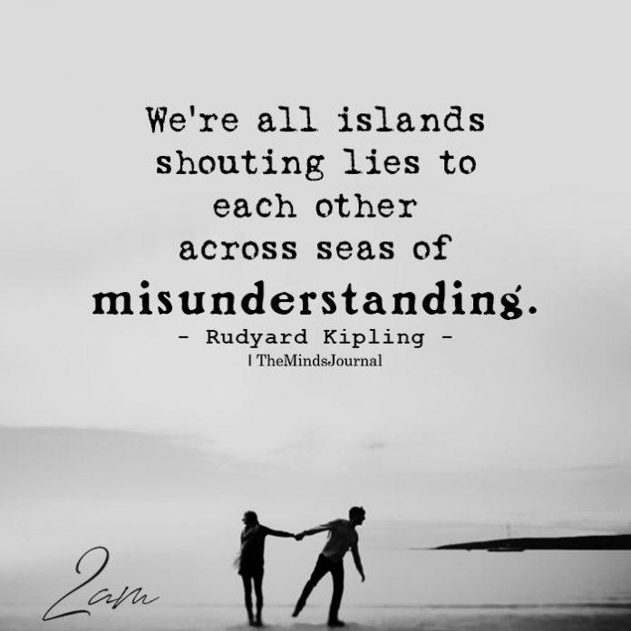 We're all islands