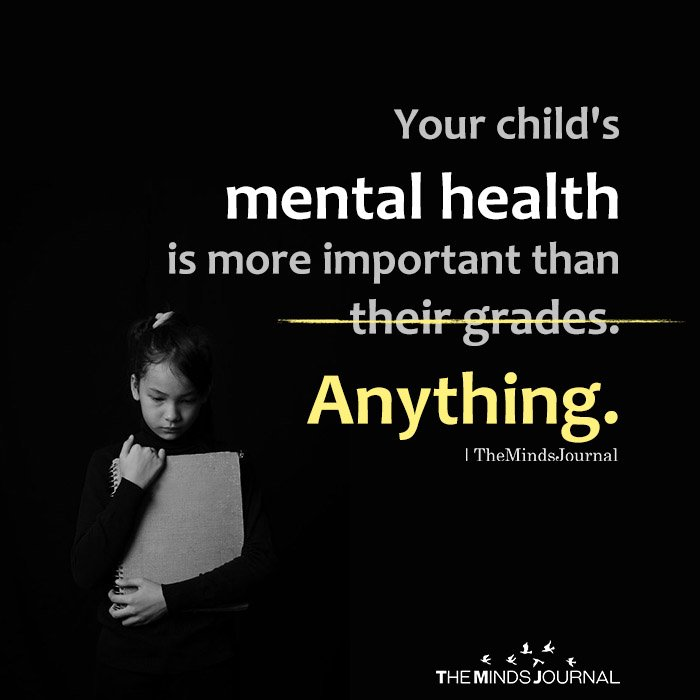 Your child's mental health is more important