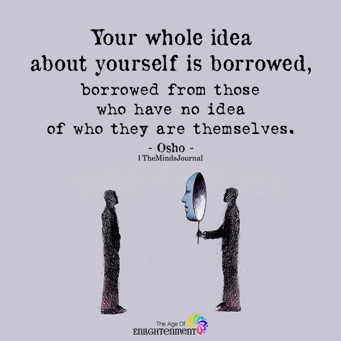 Your whole idea about yourself