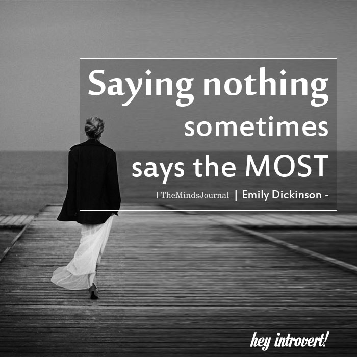 Saying nothing sometimes says the most