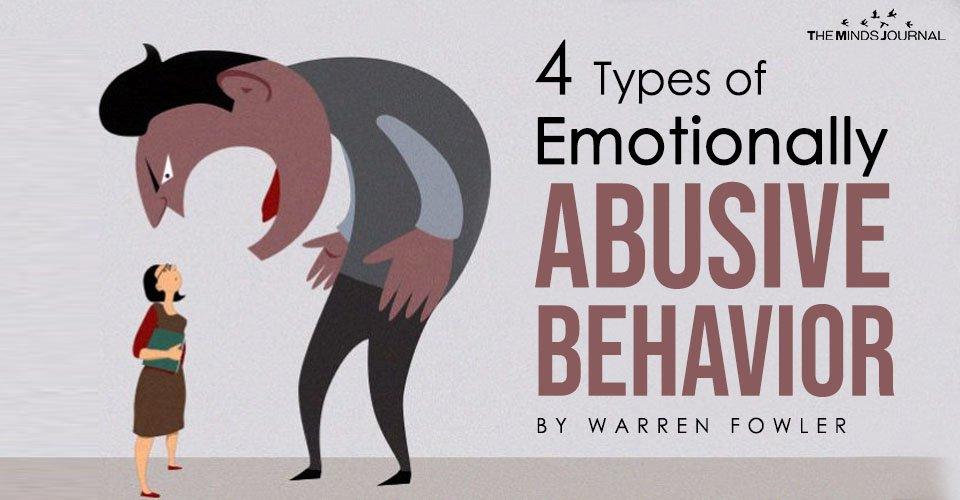 4 Types of Emotionally Abusive Behavior