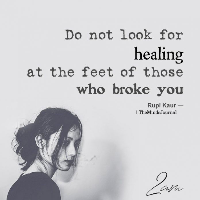 Do not look for healing at the feet