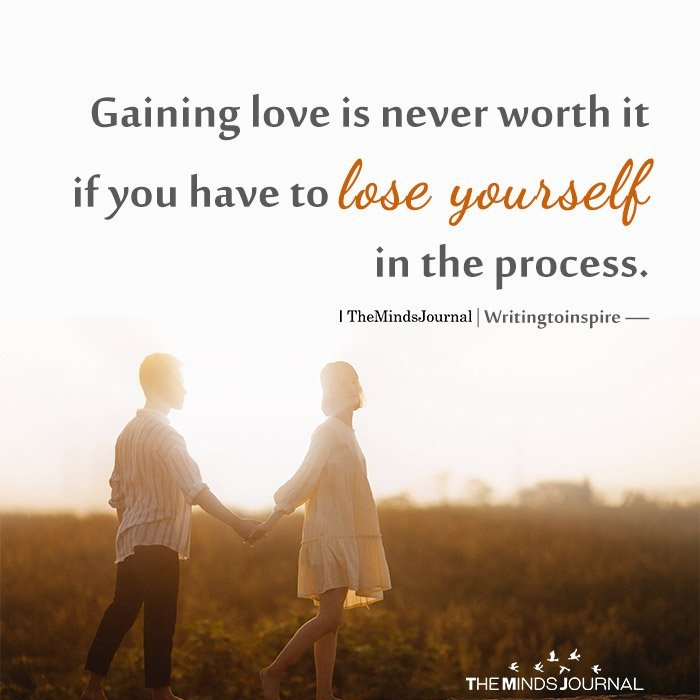 Gaining love is never worth