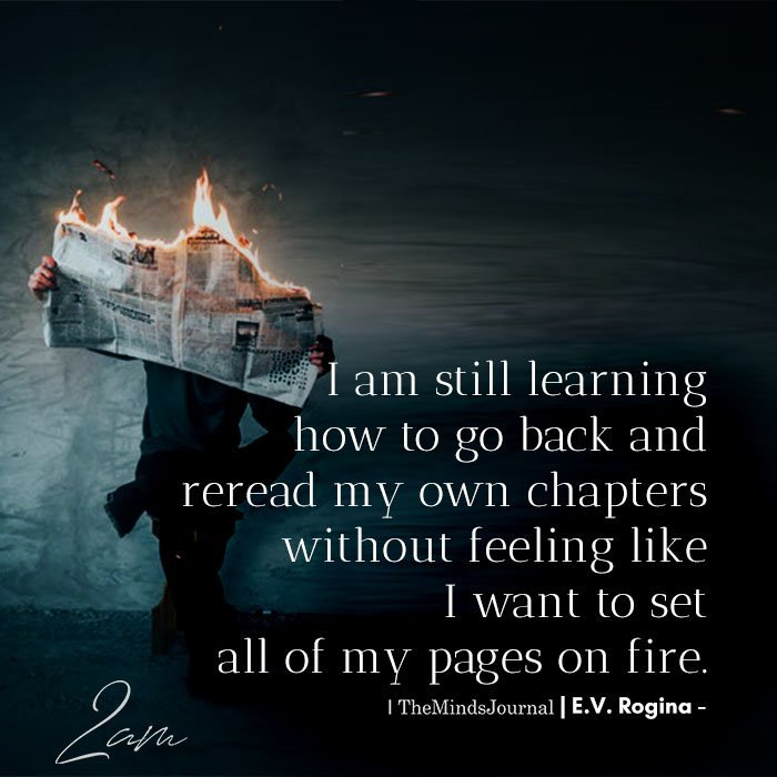 I am still learning how to go back