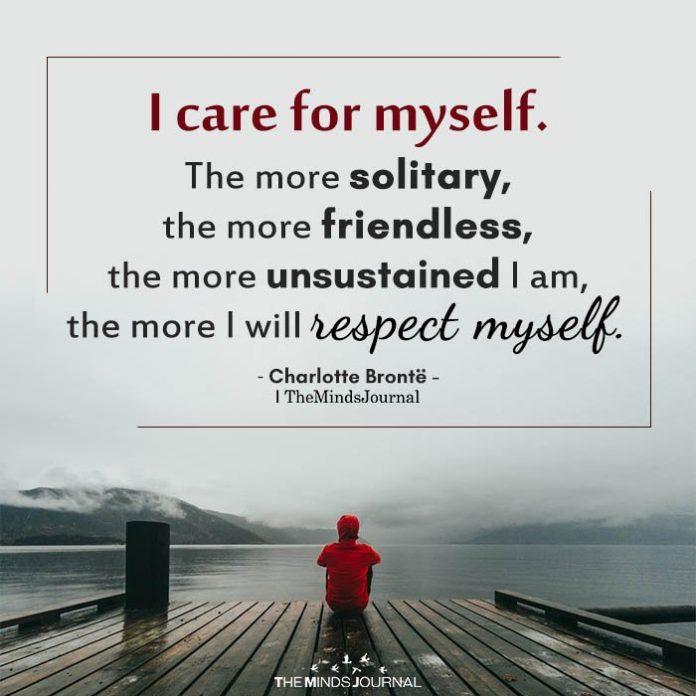 I care for myself