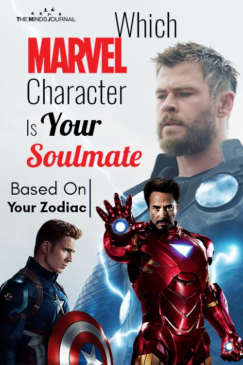 Marvel Character Soulmate Based Zodiac Sign pin