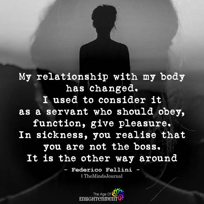 My Relationship With My Body Has Changed