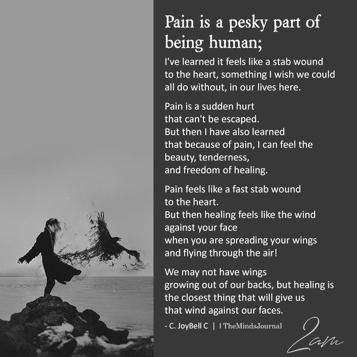 Pain is a pesky part of being human