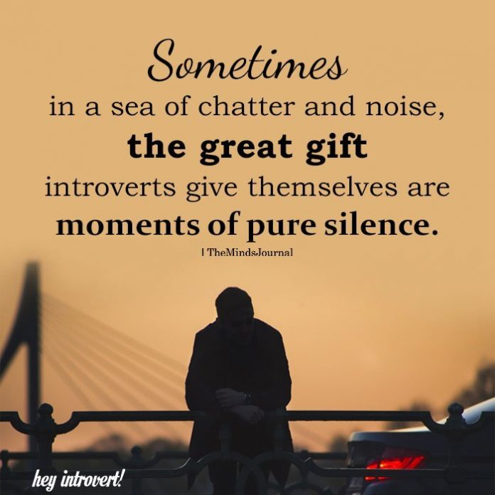 Sometimes in a sea of chatter and noise