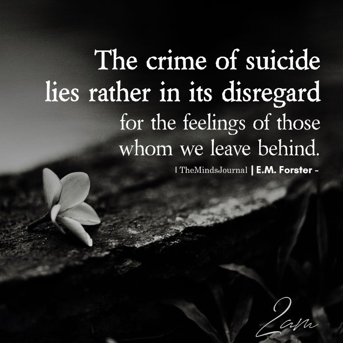 The crime of suicide
