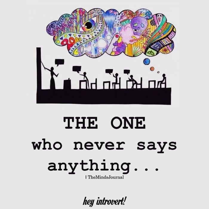The one who never says anything