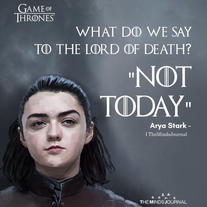 What do we say to the Lord of Death