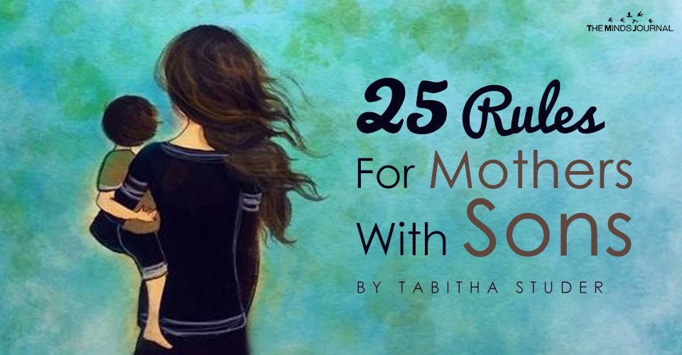 25 rules of mothers with sons pin