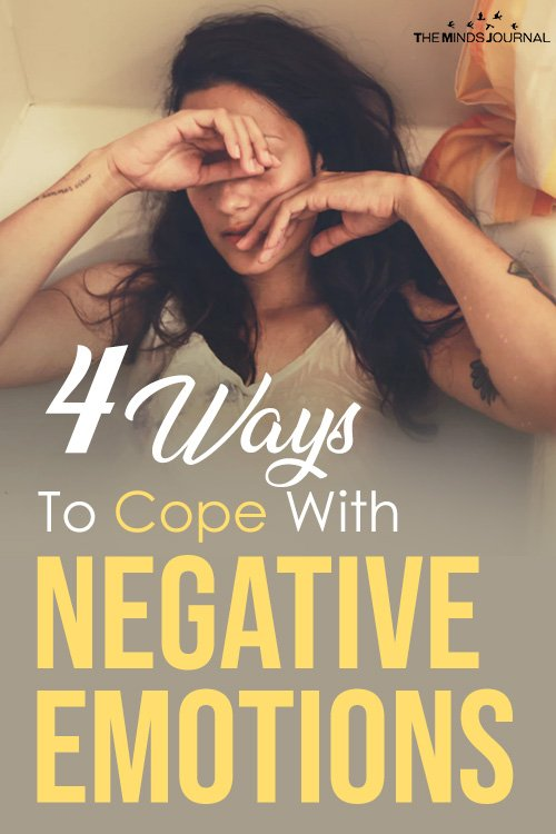 4 ways to cope with negative emotions pin