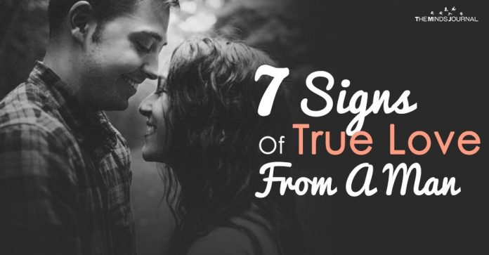 7 signs of true love from a man