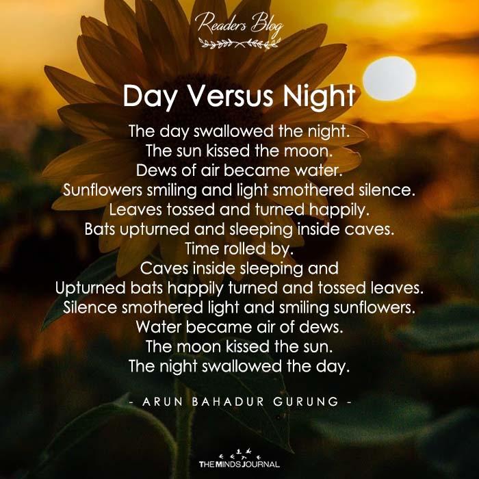 Day Versus Night