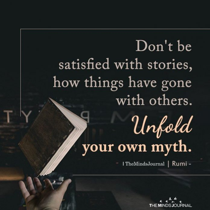 Don't be satisfied with stories