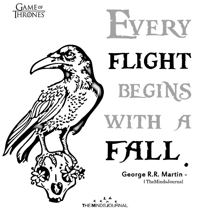 Every flight begins with a fall