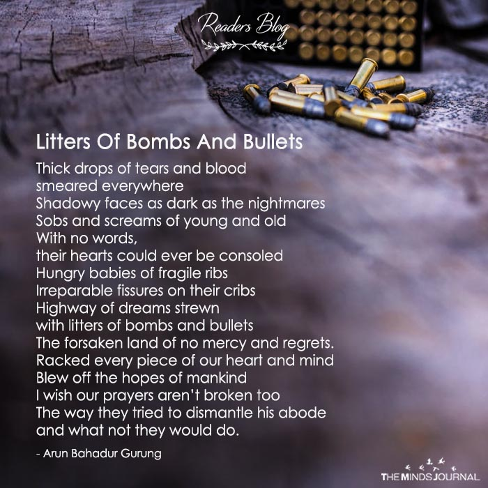 Litters Of Bombs And Bullets