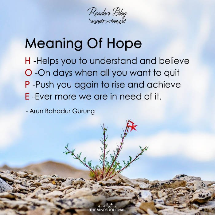 Meaning Of Hope