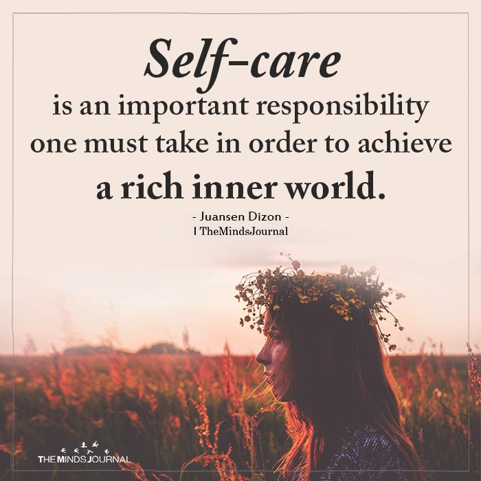 Self-care is an important responsibility