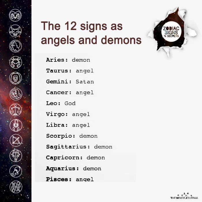 The 12 Signs As Angels And Demons