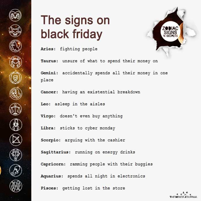The Signs On Black Friday