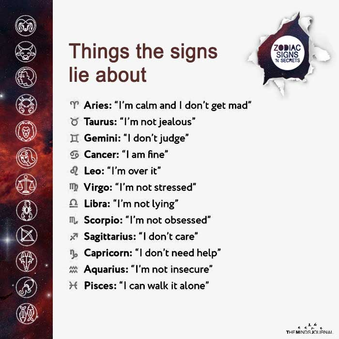 Things The Signs Lie About
