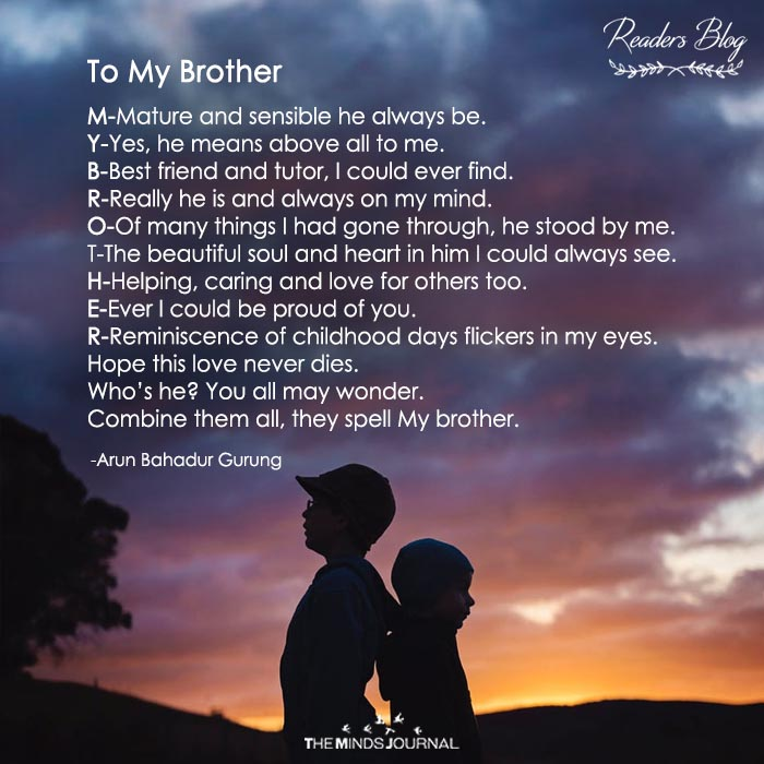 To My Brother