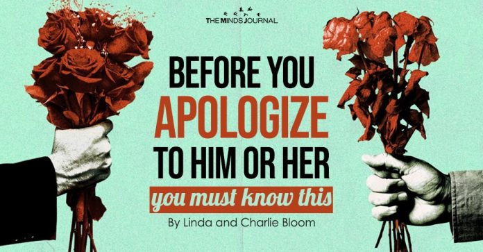 before you apologize to him or her you must read this