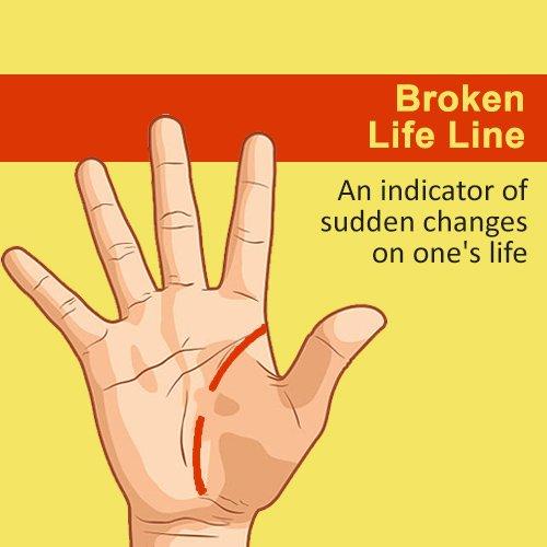 broken life line