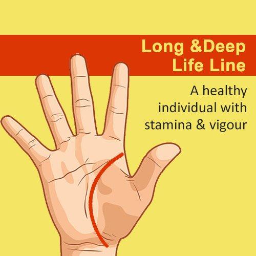 long and deep life line