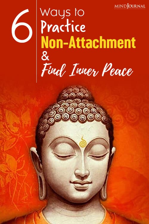 practice non-attachment and find inner peace pin peace