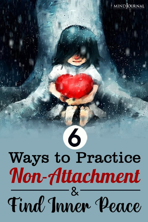 practice non-attachment and find inner peace pin