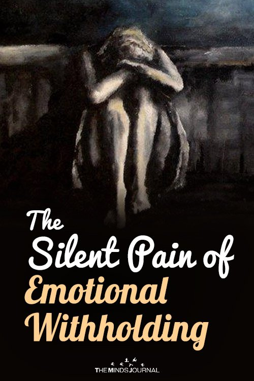 silent pain of emotional witholding pin