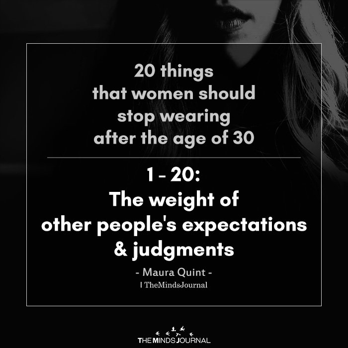 20 Things That Women Should Stop Wearing After The Age Of 30