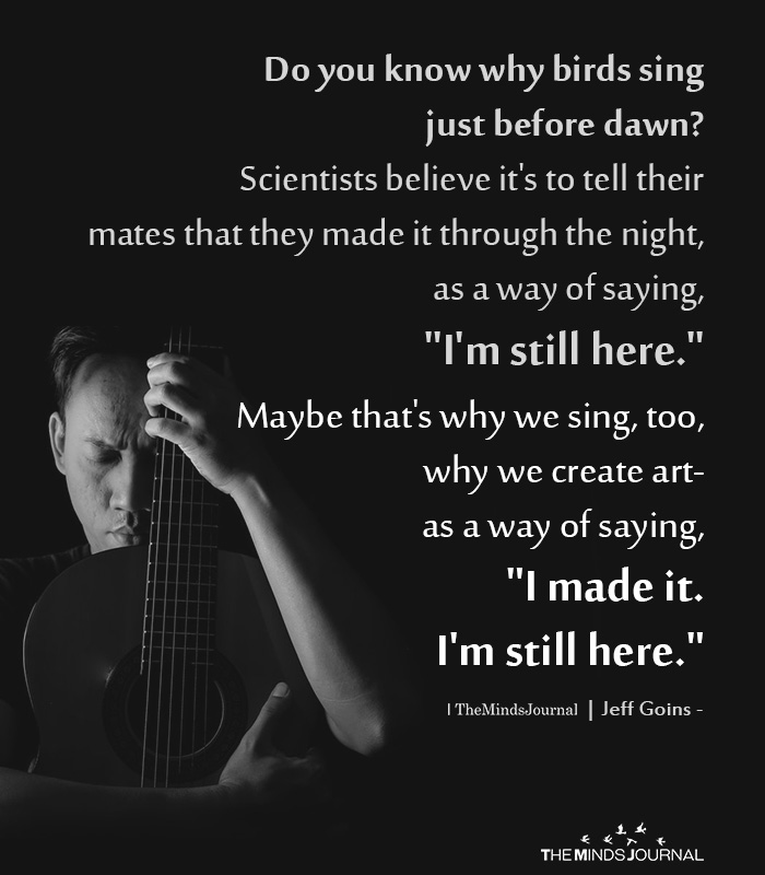 Do you know why birds sing just before dawn