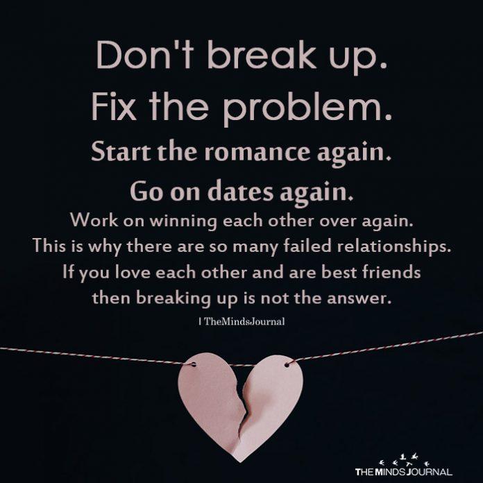 Don't break up